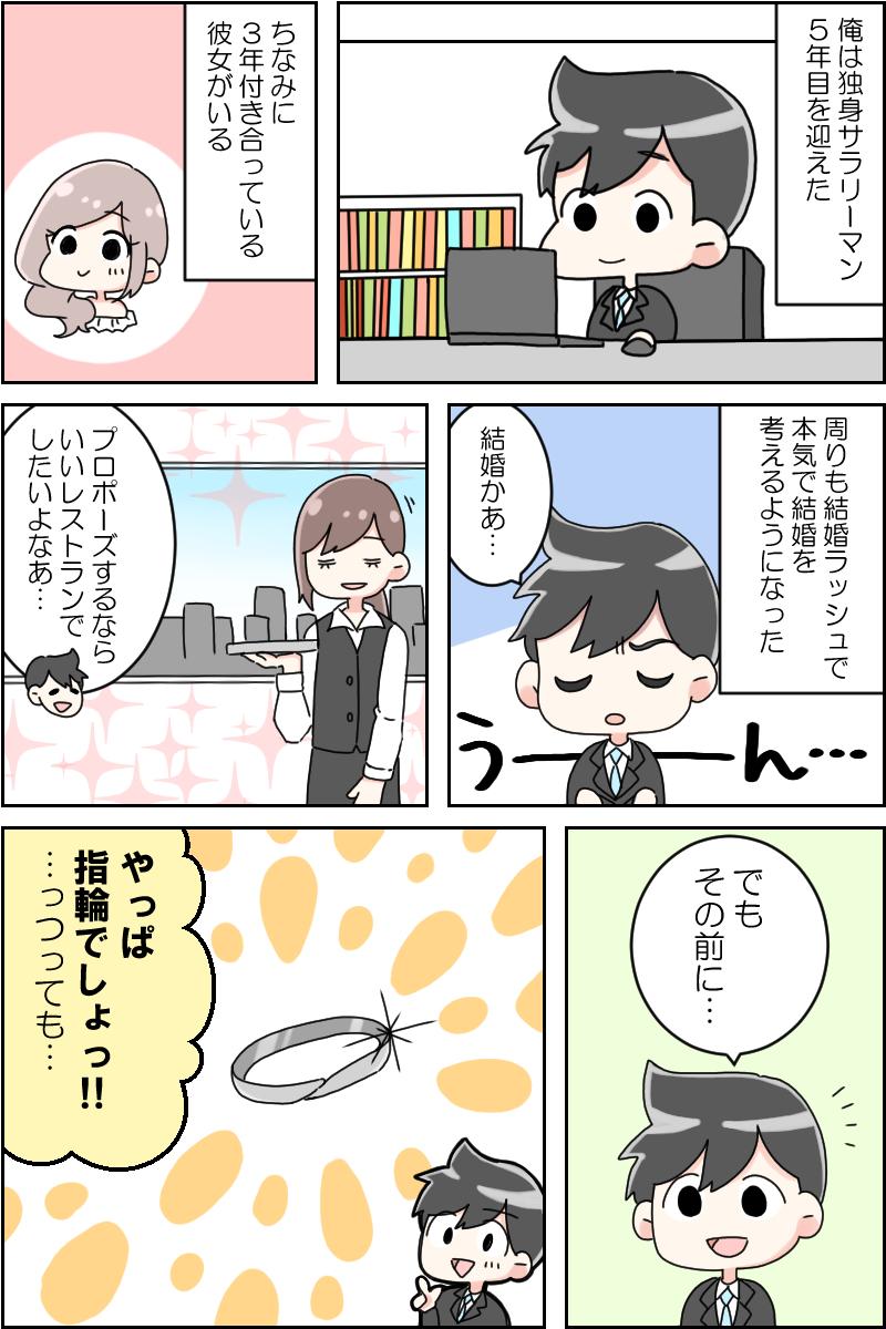 漫画でわかる婚約指輪の選び方